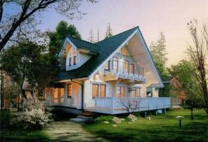 林边双层木屋